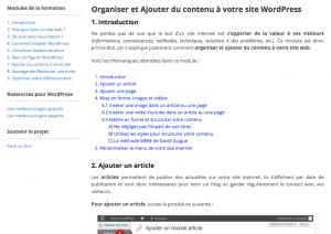 Publier votre contenu avec WordPress